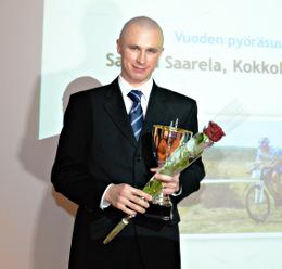 Pyöräsuunnistaja Samuli Saarela on palkittiin mitalirahastosta 2012.